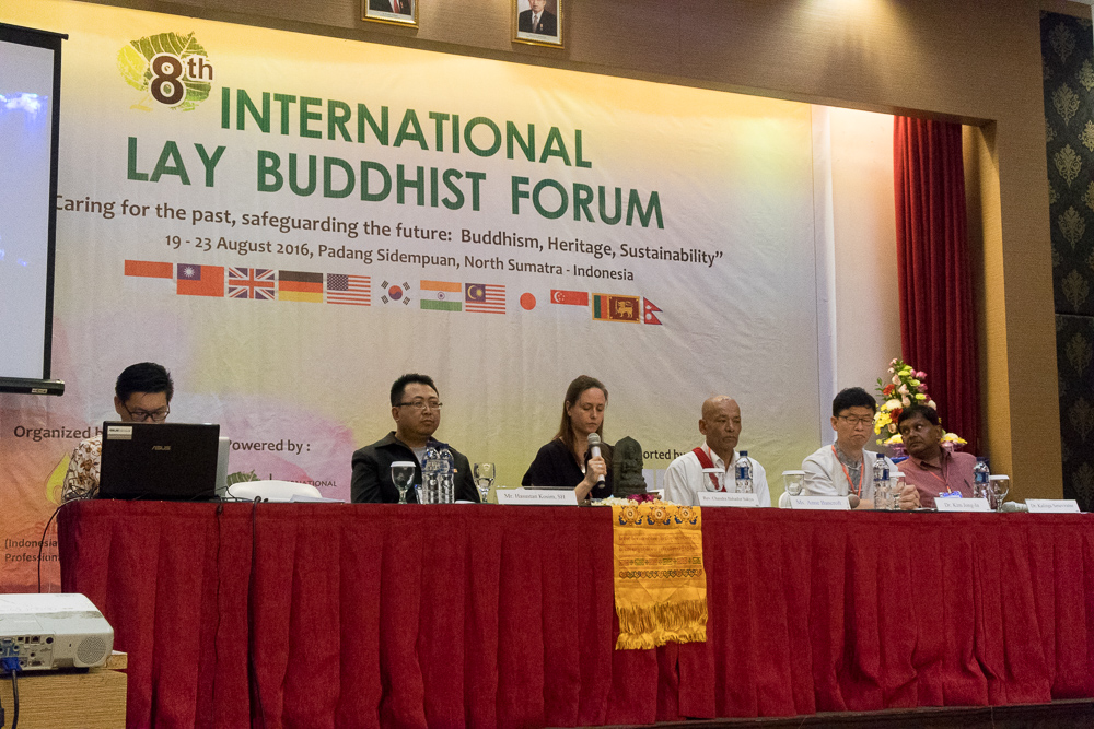 Forum Upasaka-Upasika Internasional Ke-8 (8th International Lay Buddhist Forum - ILBF) di Padang Sidempuan, Sumatera Utara, Indonesia, pada 19 hingga 23 Agustus 2016.