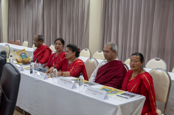 Part of the Newari delegation at ARU