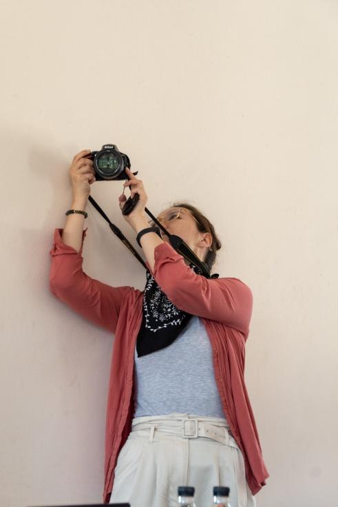 Enkhgerel Batsaikhan (Annie) taking a picture