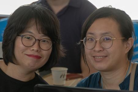 Sarah Eunkyeong Kim and April Wang